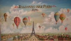Vintage - hot-air balloons over Paris | Free Printables ...
