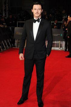 Luke Evans wearing Dior Homme – EE British Academy Film Awards #2014