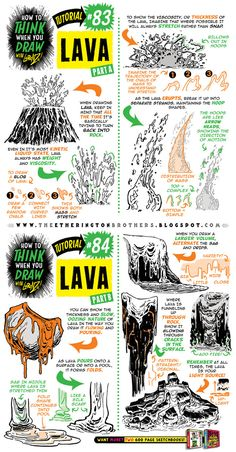 Today we're looking at how to draw LAVA! And here's a link to... 75 MORE FREE TUTORIALS! And if you want even more, here are links to my recent tutorials on... How to draw COMIC COVERSHow to draw J...