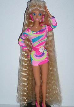 Another pinner said Totally Hair Barbie! My brother ripped her head off when we were younger so I took her body and whacked him over the head with it a few well deserved times! We both got in big trouble!