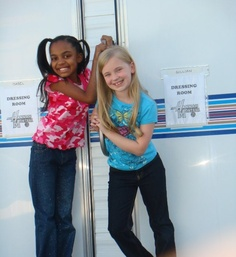 China and Sierra from ant fan on Hannah Montana