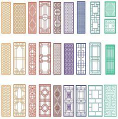 Chinese window patterns