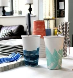 Messy Art Party...great way to know which cup is yours!
