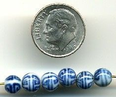 These 100 hand painted blue and white 6mm porcelain beads have the Chinese long life symbol on them. Classic color and classic design.    Beautiful in person. | Shop this product here: http://spreesy.com/Fishlips3/55 | Shop all of our products at http://spreesy.com/Fishlips3    | Pinterest selling powered by Spreesy.com