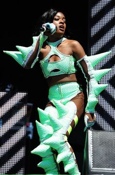 (Worst Dressed at Glastonbury 2013: WTF?! Is she trying to look like a dinosaur?'