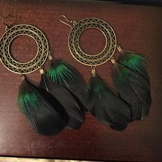 Feathered earrings Feathered earrings Jewelry Earrings