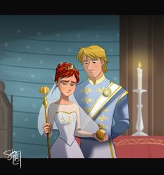 This is so sad considering the reason why Anna would have to become queen. She's on the verge of tears! Even Kristoff looks at her and feels the same.