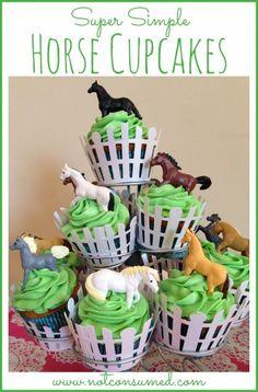 Super Simple Horse Cupcakes anyone can make!