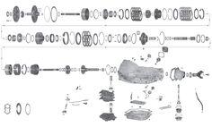 700R4 / 4L60EParts Blow Up / Diagram auto Chevy