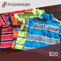 Set of polo shirts. Striped polo shirts. Shirts & Tops Polos