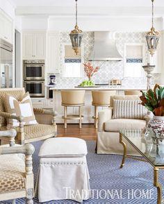 Living Room Kitchen, Home Living Room, Living Room Designs, Living Room Decor, Living Spaces, Family Kitchen, Kitchen Keeping Room, Sweet Home, Ideas Hogar