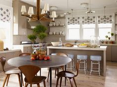 Danish kitchen/dining.