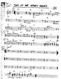 Jazz Songs, Jazz Standard, Frank Zappa, Composers, Sheet Music, Sons, Guitar, Green, Musica