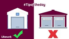Single wide-opening doors on garages are preferred over paired doors. Vehicles 🚗 can then be parked in the center of the garage providing lots of space to move around them. Single Wide, Garages, Helpful Hints, Gazebo, Shed, Outdoor Structures, Doors, Space, Vehicles