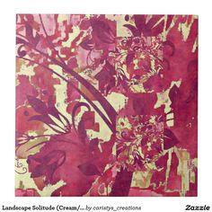 Landscape Solitude (Cream/Russets) Tile