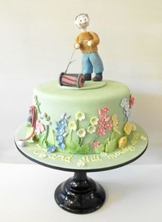 70th Birthday Cake with English Country Garden  Cake by EstherS