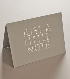 Just a Little Note card and envelope set | Studio Sarah.