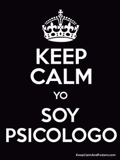 Soy Psicólogo.