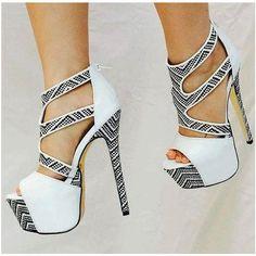 e722f8a1e1 White Platform Sandals Peep Toe Women's Stiletto Heels. Prom HeelsPumps  HeelsStiletto HeelsShoes ...