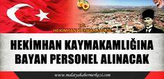 HEKİMHAN KAYMAKAMLIĞI'NA 1 PERSONEL ALINACAK http://www.malatyahabermerkezi.com/haber-42835-malatya-haber.html