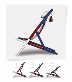 Chaise B, the deckchair Made in Italy