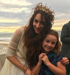 Photo from Troian Bellisario's wedding, love her headpiece
