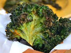 Chili Kale Chips -- great appetizer, snack or easy, veggie side dish.