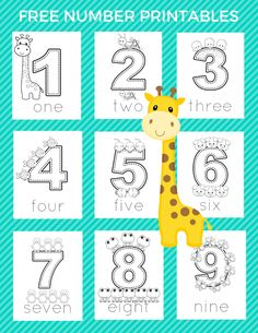 Free Preschool Number Printables | Slap Dash Mom