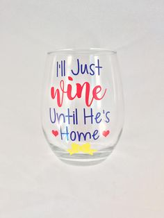 Deployment Stemless Wine Glass // Milso // Military Wife