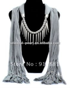 2012 Bead Scarf Necklace
