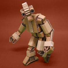 cardboard robots by emiliano martinez, via Behance