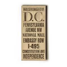 "Washington DC Transit Sign on LuxeYard for $45 save 10% with ""Luxe4fans"" discount code"