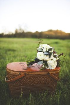 Gorgeous rustic white bouquet // photographer: Sarah Kathleen / Floral Designer: Brianne Arrastia / Styling: {ever after} artistry  // see more: http://theeverylastdetail.com/2013/09/10/little-red-riding-hood-wedding-inspiration/