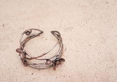 sakura cuff,cherry blossom bracelet, handmade by by Joyloveclay