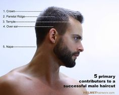 how to cut men's hair diagram