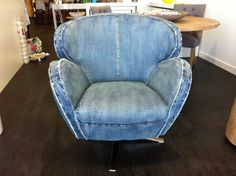 Blue Denim Sitting Chairs that have just arrived in store....Hot Hot Hot!!!