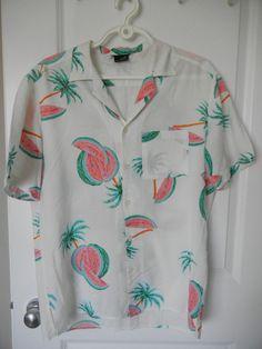b9d37b2f Vintage Hawaiian Shirt 1980s La Griffe Design 100% Cotton Made in Hawaii USA