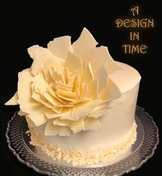 White Chocolate Ganache Cake - Party Cake made with Master Martini White Chocolate Ganache. Chocolate Ganache Cake, Chocolate Art, Gourmet Cakes, Chocolate Flowers, Chocolate Decorations, Specialty Cakes, Piece Of Cakes, Cake Art, Party Cakes