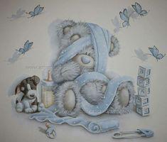 Tatty Teddy, Teddy Bear, Blue Nose Friends, Bear Graphic, Bedroom Night, Cute Cartoon Animals, Baby Shower, Kids Wallpaper, Baby Room