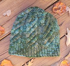 """The Campfire Tales Hat is designed to a fit an adult large size (head circumference of approximately 23""""). It is knit from chunky yarn for maximum warmth from those cold winter nights."""