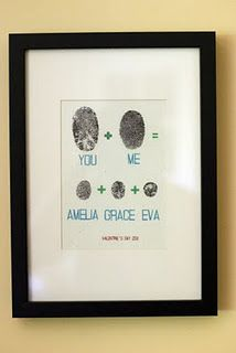 Family fingerprint tree- love this! And how funny that two of the kids names are Amelia & Grace and I have an Amelya Grace :)