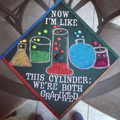 Biology major. Graduation cap decoration. College of science and mathematics.