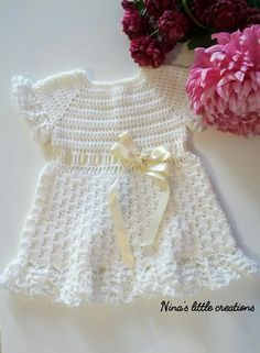 Very simple but very nice this baby dress. Crocheted with soft cotton d9485a37f8e2