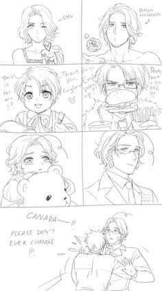 Face Family | France, America, Canada, and England<<<< my feels are destroyed. I feel a really special bond between Iggy and maple. Not in a shipping way