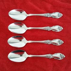 4 Teaspoons Louisiana by Oneida Community Stainless Flatware Silverware #Oneida