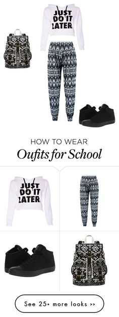 """""""school look"""" by shaza2001 on Polyvore featuring Boohoo, Converse and SM New York"""
