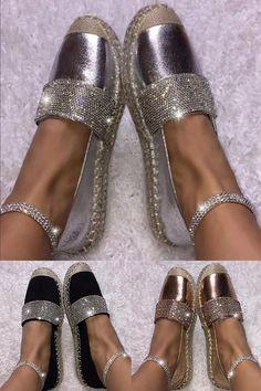 Womens Sneakers – High Fashion For Women Cute Sandals, Cute Shoes, Me Too Shoes, Shoes Sandals, Shoes Sneakers, Shiny Shoes, Flat Shoes, Jeweled Shoes, Zara
