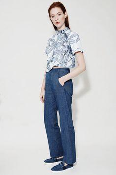 Leander Denim Frayed Trousers, Denim | WHISTLES