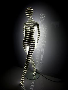 Custom request for glow in the dark display mannequins for C&A's Munich location. Ask us for unusual sizes, special surfaces, extravagant poses and exceptional body language. We love challenges! #LEDs #customization #mannequins