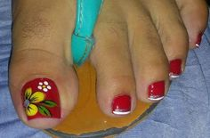 Pretty Toe Nails, Cute Toe Nails, Cute Toes, Pretty Toes, Toe Nail Art, Flower Nail Designs, Pedicure Designs, Toe Nail Designs, Mani Pedi
